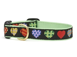 Colorful Hearts Dog Collar Collection