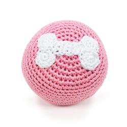 PAWer Squeaky Toy - Bone Ball Pink
