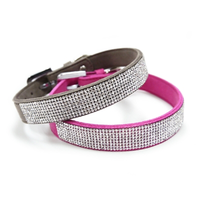 VIP Bling Collar Fuchsia/Gray