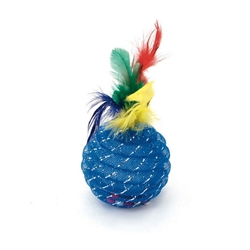 "Rascals® 4.5"" Pineapple with Feathers Cat Toy"