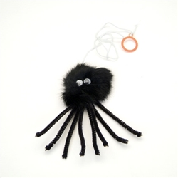 "Rascals® 6.5"" Furry Spider Cat Toy"