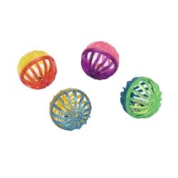 """1.5"""" Lattice Balls - Rascals® Assorted Balls Cat Toys - 4 pk"""