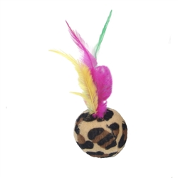 """6"""" Ball with Feather - Rascals® Assorted Balls Cat Toys"""