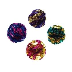 "1.5"" Krinkle Balls - Rascals® Assorted Balls Cat Toys - 4 pk"