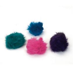 """1.5"""" Fuzzy Ball - Rascals® Bulk Cat Toy Bins - 60 pcs"""
