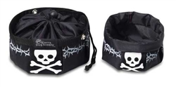 Black with Skull Travel Bowls w/ Snap