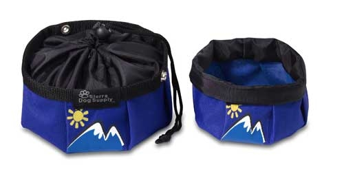 Blue with Mountains Travel Bowls w/ Snap