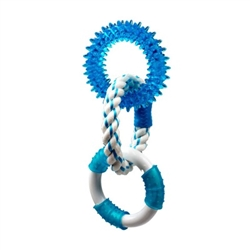 Multipet Canine Clean  W/ 3 Rings (2 Tpr/1 Rope) - 11""