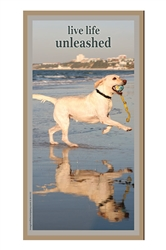 """Live Life Unleashed"" Wood Sign 5"" x 10"""