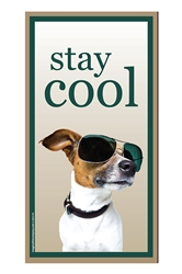 """Stay Cool"" Wood Sign, 5"" x 10"""