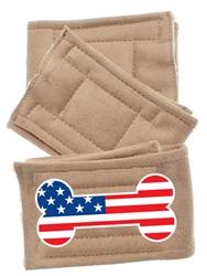 Patriotic Peter Pads Size USA Bone Flag 3 Pack