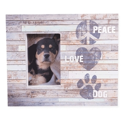 "Peace Love Dog Wood Pallet Box Frames 11.5"" x 9.5"""
