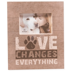 "Love Changes Everything Wood Pallet Box Frames 11.5"" x 9.5"""