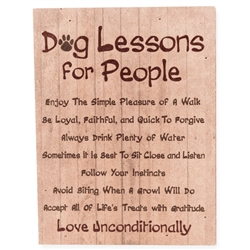 Dog Lessons for People Small Pallet Box Signs