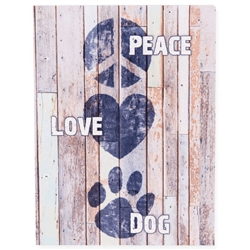 Peace Love Dog Small Pallet Box Signs