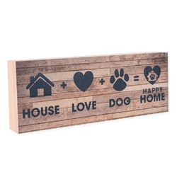 House + Love + Dog = HOME Large Pallet Box Signs