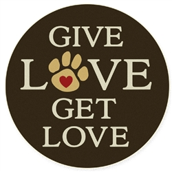 Give Love Get Love - Car Coaster
