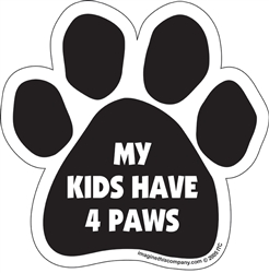 My Kids Have 4 Paws Car Window Decals - 2 Per Package