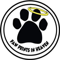Paw Prints in Heaven - Car Window Decals - 2 Per Package