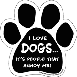 I Love Dogs...People Annoy Me - Car Window Decals - 2 Per Package