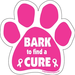 Bark to Find a Cure - Car Window Decals - 2 Per Package