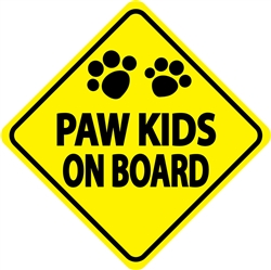 Paw Kids on Board - Car Window Decals - 2 Per Package