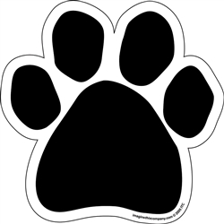 Blank Black Paw - Car Window Decals - 2 Per Package