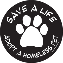 Save A Life, Adopt - Car Window Decals - 2 Per Package
