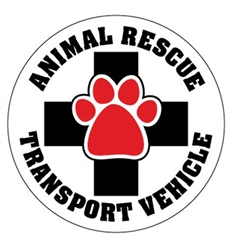 Animal Rescue Transport Vehicle - Car Window Decals - 2 Per Package