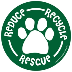 Reduce - Recycle - Rescue - Car Window Decals - 2 Per Package