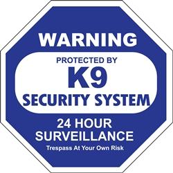 K-9 Security - Window Decals - 2 Per Package