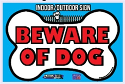 "Beware of Dog - Security Sign - 15"" x 10"""