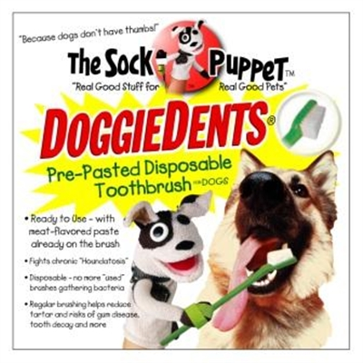 Doggie Dents Prepasted Dog Toothbrush 4 Pack Case Of 12