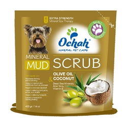 ANTI-OXIDANT - Mineral Mud Scrub with Olive Oil, Coconut, Dead Sea Minerals, Aloe Vera & Vitamin E - 400g Retail Pouches