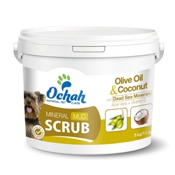 ANTI-OXIDANT - Mineral Mud Scrub with Olive Oil, Coconut, Dead Sea Minerals, Aloe Vera & Vitamin E - 11 lbs Buckets for Groomers