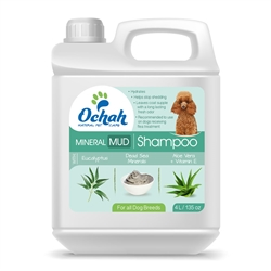 Flea & Tick - Mineral Mud Shampoo with Eucalyptus, Dead Sea Minerals, Aloe Vera & Vitamin E - Gallon Jugs for Groomers