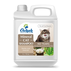 For Cats - Mineral Cat Shampoo  - No Tears - with Dead Sea Minerals & Aloe Vera - Gallon Jugs for Groomers