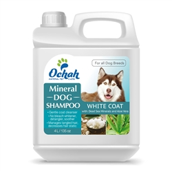 White Coat - Mineral Dog Shampoo with Dead Sea Minerals & Aloe Vera - Gallon Jugs for Groomers