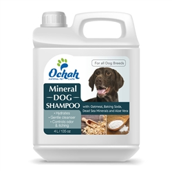 Deodorizing - Mineral Dog Shampoo with Oatmeal, Baking Soda, Dead Sea Minerals & Aloe Vera - Gallon Jugs for Groomers