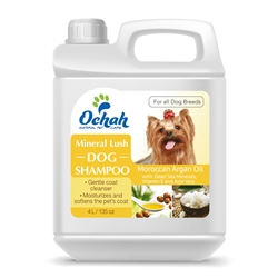 Lush - Mineral Dog Shampoo with Moroccan Argan Oil, Dead Sea Minerals, Vitamin E & Aloe Vera - Gallon Jugs for Groomers