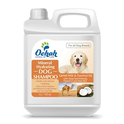 Hydrating - Mineral Dog Shampoo with Camel Milk, Coconut Oil, Dead Sea Minerals, Vitamin E & Aloe Vera - Gallon Jugs for Groomers
