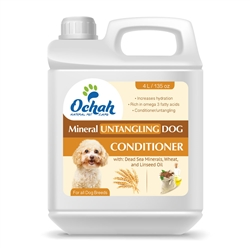 Untangling - Mineral Dog Conditioner with Dead Sea Minerals, Wheat and Linseed Oil - Gallon Jugs for Groomers