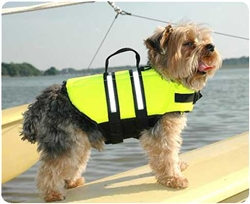 The Paws Aboard Dog Life Jacket - 6 sizes (YELLOW COLOR)