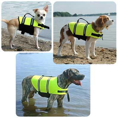 Dog Life Jacket - The Paws Aboard Dog Life Vest - 6 sizes (YELLOW COLOR)