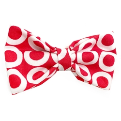 White Circles on Red Bowties