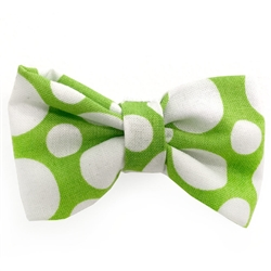 Green and White Circles Bowties