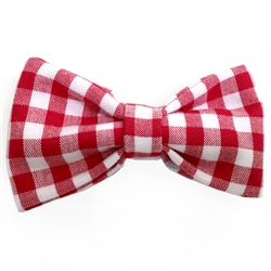 Red Gingham Bowties