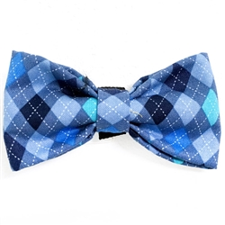 Blue Argyle Bowties