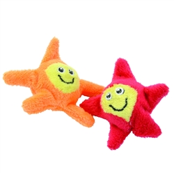 """Bergan 2.75"""" Bouncy Stars - Turbo™ Bouncing Cat Toys - 2 pk"""