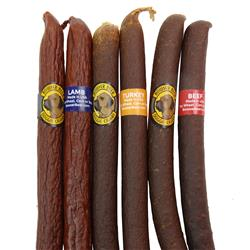 Bowser Doggie Cigars - 25 Packs of Turkey, Beef or Lamb